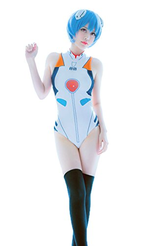 Nuoqi Anime Cosplay EVA Ayanami Rei White Swimwear One-Piece Suits Costumes