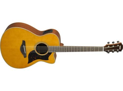 Yamaha 6 String Series AC1M Small Body Cutaway Acoustic-Electric Guitar-Mahogany, Vintage Natural, Concert VN
