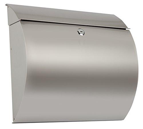 Arregui-Aura-E5405-12-Buzon-Individual-de-Acero-Inoxidable-tamano-L-revistas-y-sobres-C4-Gris-330-x-375-x-105-mm