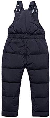 TAIYCYXGAN Baby Toddler Boys Girls Winter Warm Snow Pants Zip Up Bib Overalls Adjustable Snowsuit
