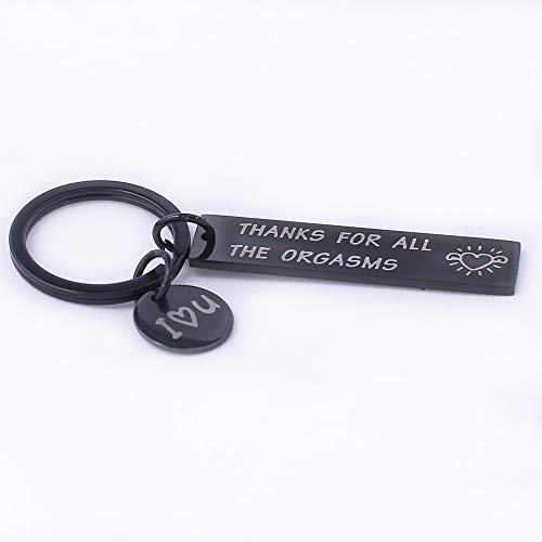 Runalp Funny Gift for Boyfriend Husband Thanks for All The Orgasms Naughty Gift Idea