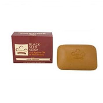 NUBIAN HERITAGE BAR SOAP,HONEY BLKSEED, 5 OZ Pack of 6
