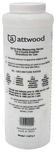 - attwood 11873-1 Wide-Mouth Marine Fuel/Oil Mixing Bottle 1-Quart