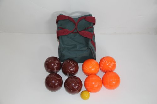 Premium Quality Epco Tournament Set - 110mm Red and Orange Bocce Balls [Toy] by Epco