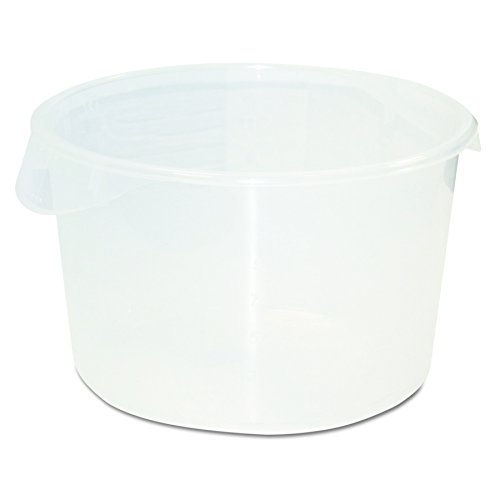 Rubbermaid Commercial 572624CLE Round Storage Containers, 12qt, 13 1/8dia x 8 1/8h, Clear (Round Storage Container Lid)