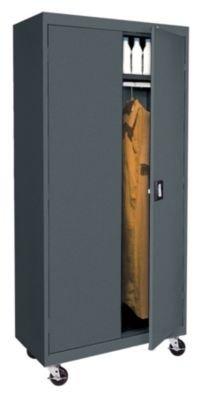 (Sandusky Lee TAWR362472-02 Transport Series Mobile Wardrobe Storage Cabinet, Charcoal)