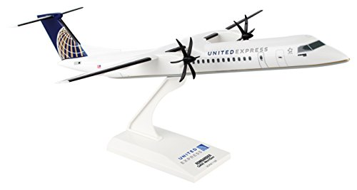 Daron Worldwide Trading Skymarks United Express Q400 1/100 Plane Model (Airlines Types United Plane)