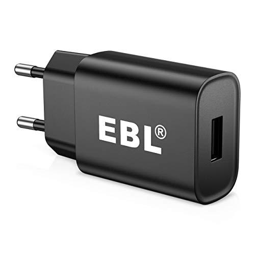 EBL Chargeur Secteur USB- Adaptateur USB Universel Mural (5V/2A)- Compatible avec iPhone, Samsung Galaxy, Huawei, Xiaomi, Nokia, LG, Motorola, etc.