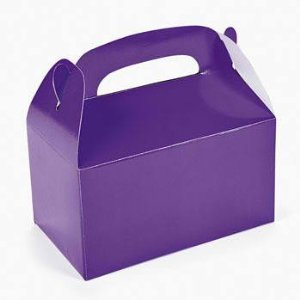 Fun Express Purple Treat Boxes (24 Pack)