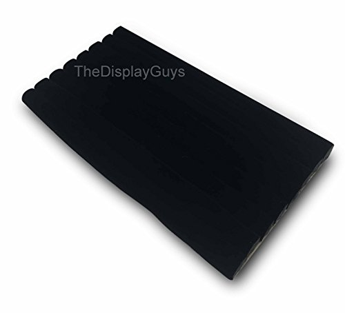 The Display Guys Black Velvet Soft 8 Roll Insert For Most of Standard Size Jewelry Tray Perfect for Showing Necklace Bangle Rings Earrings etc (8 Roll Insert (Black Velvet Pad Insert)