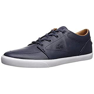 Lacoste Men's Bayliss Fashion Sneaker, Dark Blue/Dark Blue, 12 M US