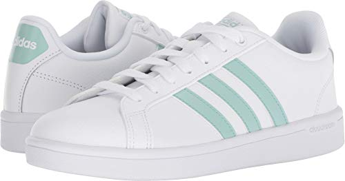 - adidas Women's Cf Advantage Sneaker, White/Ash Green/Light Granite, 7.5 M US