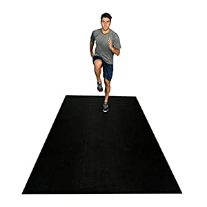 Square36 Large Exercise Mat 12 Ft x 6 Ft x 7mm (144″ x 72″) Extra Thick Non Slip Workout Mats Exercise Fitness Equipment Mat. Designed For Use With Or Without Shoes. Ideal For Home Gym Flooring