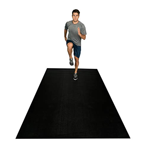 Square36 New 12 Ft x 6 Ft Extra Large Exercise Mat. Made in Germany – Highest Grade, Certified Non-Toxic. Designed for Use with Or Without Shoes. Ideal for Home Cardio, Aerobics, MMA, HIIT.