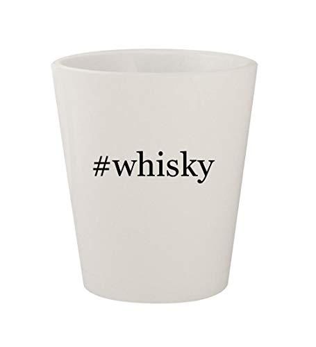 #whisky - Ceramic White Hashtag 1.5oz Shot Glass