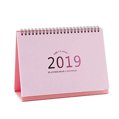 Calendar 2019 Creative New Year Calendar Sleek Minimalist Cute Mini Desk Calendar Retro Kraft Calendar, Custom Desk Calendar Itinerary Management (Color : C)