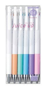 Pilot Knock Gel Ink Extra Fine Ballpoint Pen, Juice Up 04, 6 Pastel Color Assorted (LJP120S4-6CP)
