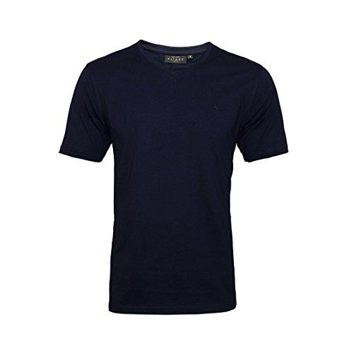 Kitaro Shirt Herrenshirt T-Shirt V-Ausschnitt 68900 navy 210 S17-KTS1 - bis 10XL lieferbar !