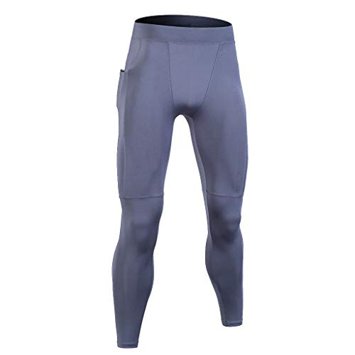 Sport Pants for Men Youth, Jiayit Men Training Bodybuilding Workout Fitness Long Pants Tight-Drying Sports Running Exercise Leggings Pants ()