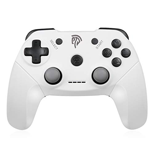 2.4G Wireless Controller for PS3, PC Gamepads with Dual Shock Button Range up to 10m Support PC, PS3, Android, Vista, TV Box (White)