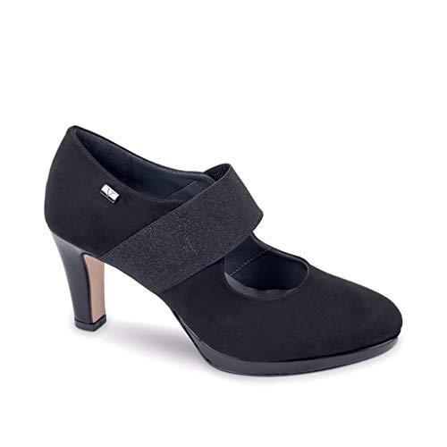 Hiver Decolleté En 45692 Daim Valleverde Femme Chaussures 2019 Noir Automne AqcB8T