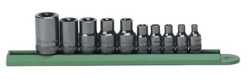 GearWrench 80582 10 Piece 1/4-Inch 3/8-Inch 1/2-Inch Drive E Socket Set [並行輸入品] B078XLSRTH