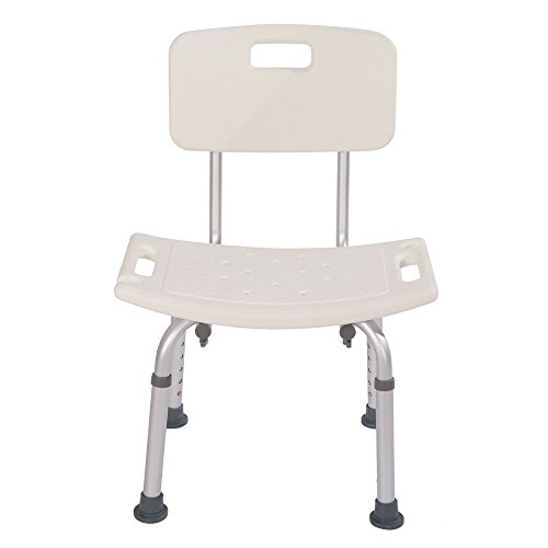 Soogo Heavy-Duty Aluminum Alloy Old People Backrest Bath Chair CST-3012 White by Soogo