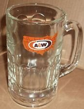 VINTAGE A&W Root Beer Mug 6 Tall LOGO with UNITED STATES MAP ()