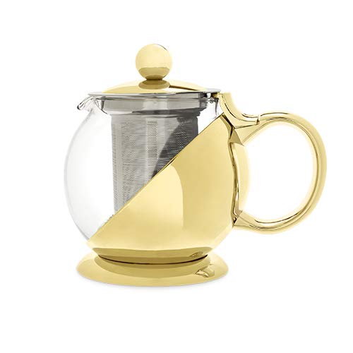 Pinky Up 7726 Shelby Gold Wrapped Teapot & Infuser Up Teapot,