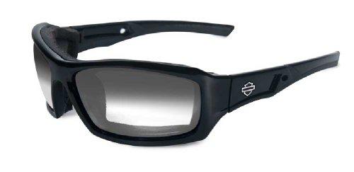 Harley-Davidson HD Echo LA Light Adjust Smoke Grey Lenses in a Gloss Black Frame Sunglasses by Wil