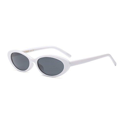 de hombres hombres ovales las de vendimia los los marcos de Gafas Blanco gafas la de de sol los Gris mujeres de pequeñas Huicai qt5F7YxwY