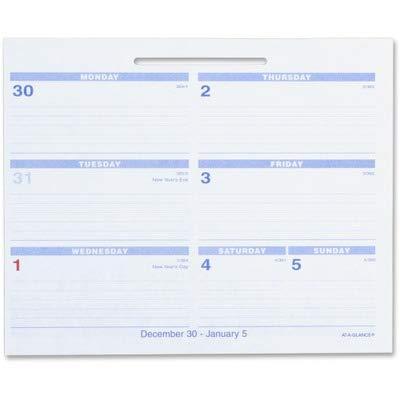 AT-A-GLANCE SW705X50 Flip-A-Week Desk Calendar Refill, 5 5/8 x 7, White, 2016 by AT-A-GLANCE