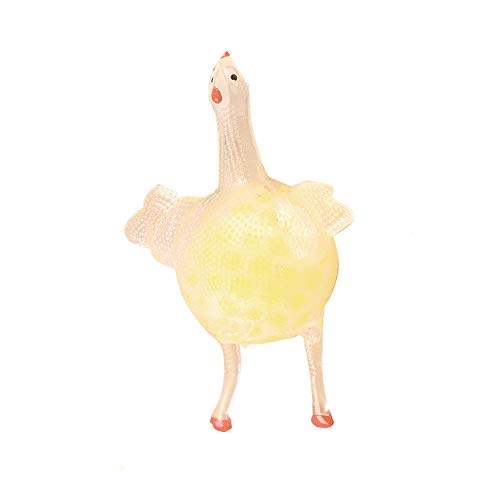 WUAI Chicken Lay Egg Mesh Ball Stress Grape Toys Anxiety Relief Stress Ball (Yellow)]()