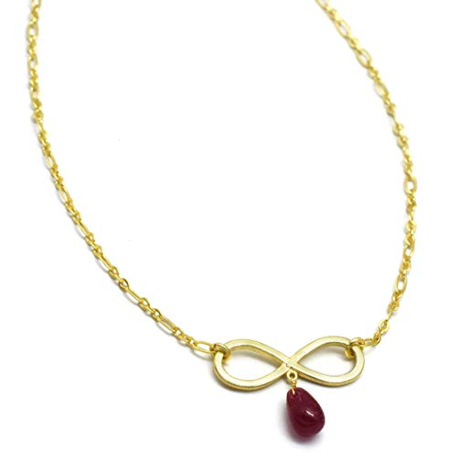 V. Collection The Pendant Necklaces 22k Yellow Gold Plated Pink Quartz Pendant Necklaces for Women and Girls