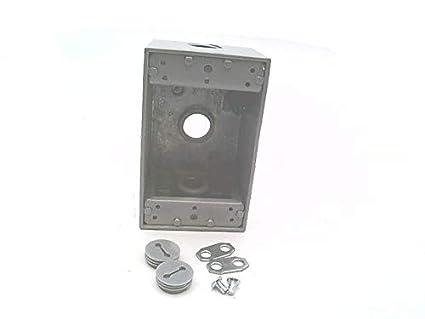 Alum BELL 5320-0 Weatherproof Box,1Gang,3Inlet