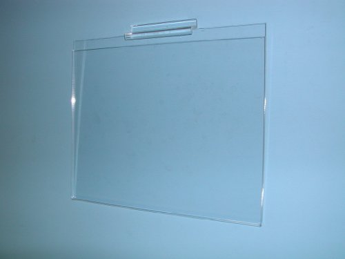 8-1/2''H X 11''W PLEXI CARDHOLDER FOR SLATWALL HORIZONTAL-CLEAR-Lot of 24 by OEM