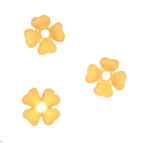 Beadaholique Lucite Baby's Breath Tiny Flowers Matte Yellow Topaz Light Weight 6mm (10)