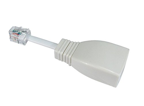 BT Socket to RJ11 Plug 4 Pin Telephone Phone Cable Adaptor Converter UK ()