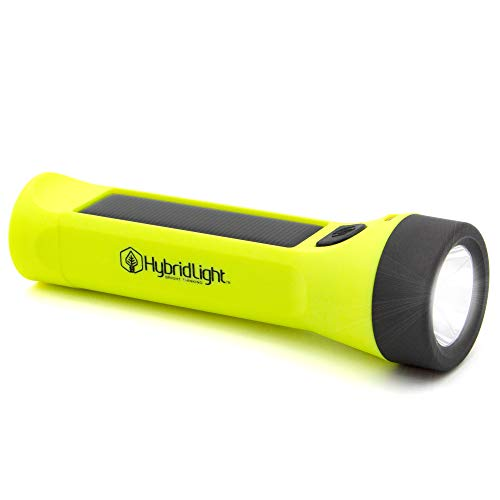 (Hybridlight Journey 300 Solar/Rechargeable 300 Lumen LED Waterproof Flashlight. High/Low Beam, USB Cell Phone Charger, Built In Solar Panel Charges Indoors or Out, USB Quick Charge Cable Included )