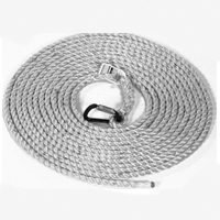 MSA 416049 Polyester/Polypropylene Rope Vertical Lifelines with Twist-Lock Carabiner on One End, 5/8