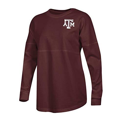 - Champion Ladies Texas A&M Aggies Long Sleeve Oversized Fan Shirt (Small)