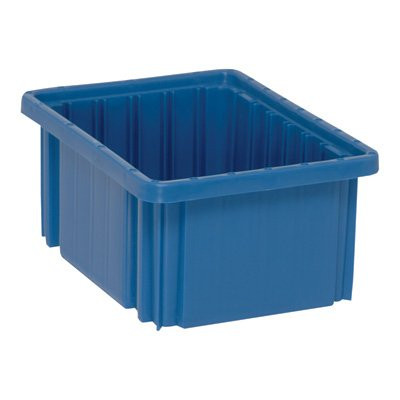 Quantum Storage Systems DG91050BL Dividable Grid Container 10-7/8-Inch Long by 8-1/4-Inch Wide by 5-Inch High, Blue, 20-Pack by Quantum Storage Systems