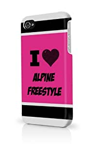Alpine Freestyle Pink iPhone 4 Case Fits iPhone 4 & iPhone 4S Full Print Plastic Snap On Case