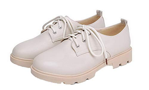 Toe Shoes Heel Round Beige Mini Microfiber Heeled tsmdh003023 Aalardom Women CxtvqqR