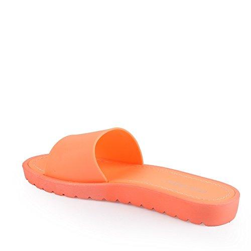 Ideal Shoes Barfuß Klassischen Norita Orange