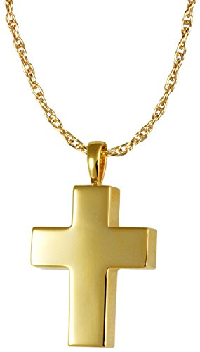 Memorial Gallery MG-3158gp Medium Cross 14K Gold/Sterling Silver Plating Cremation Pet Jewelry by Memorial Gallery