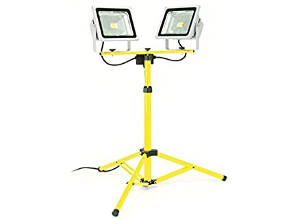 Super LED-Baustrahler mit Stativ DAYLITE LBS-2x30N, EEK: A+, 2x 30 W, 2x MO13