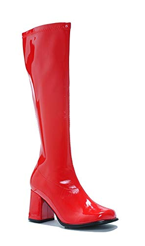 Ellie Shoes Women's Shoes 3 Inch Gogo Boots With Zipper (Red;11)]()