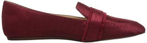 West Fabric Loafer Red Baruti Fabric Flat Nine Women's dWcdC