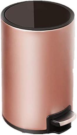 ゴミ箱 12L容量のラウンドペダル酷いビン家庭リビングルームのゴミ箱 耐久性 機能性 使いやすさ (Color : Rose gold, Size : 10L)